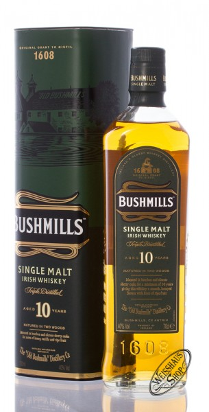 Bushmills 10 Years Old Single Malt Irish Whiskey 40% vol. 0,70l