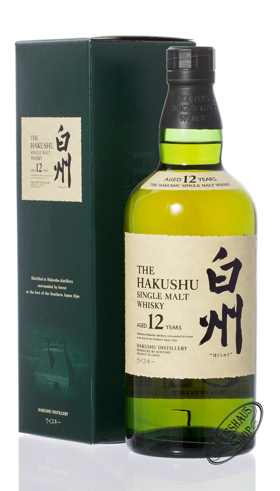 Hakushu 12 YO Japanese Whisky 43% vol. 0,70l