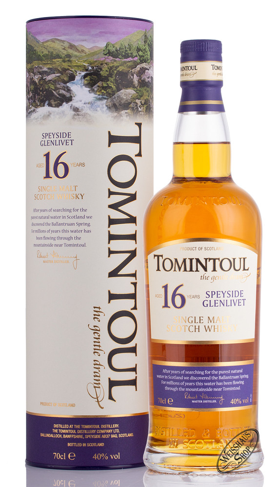 Tomintoul 16 YO Whisky 40% vol. 0,70l