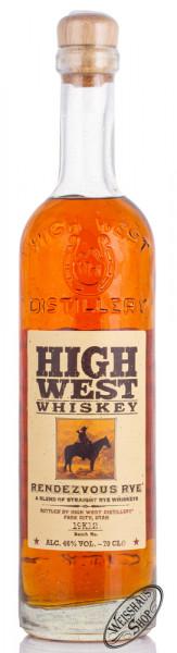 High West Rendezvous Rye 46% vol. 0,70l