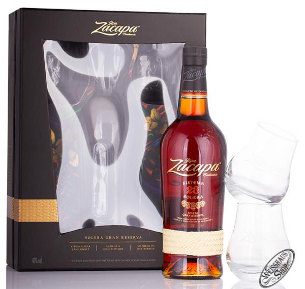Ron Zacapa Centenario 23 Rum Geschenk-Set 40% vol. 0,70l