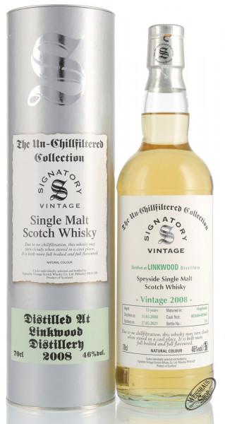 Linkwood Vintage 2008 Signatory Un-Chillfiltered Whisky 46% vol. 0,70l