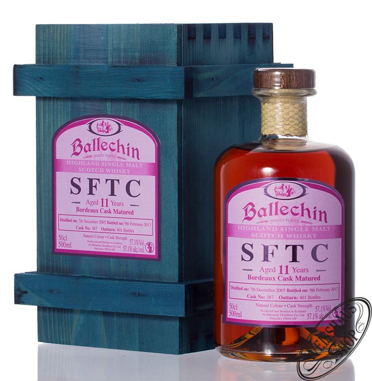 Edradour Ballechin 2005 SFTC Bordeaux Cask Whisky 57,1% vol. 0,50l