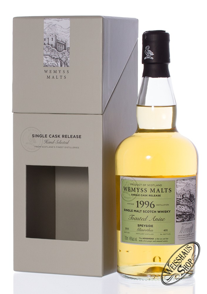The Glenrothes Vintage 1996 Wemyss Toasted Anise Whisky 46% vol. 0,70l