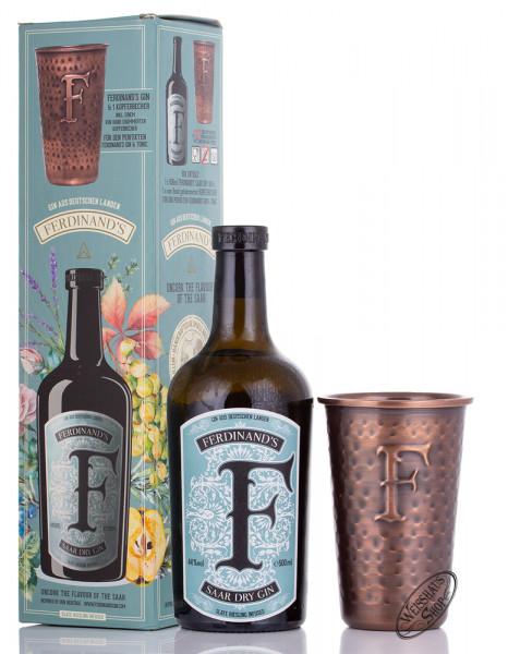 Ferdinands Saar Dry Gin mit Kupferbecher 44% vol. 0,50l