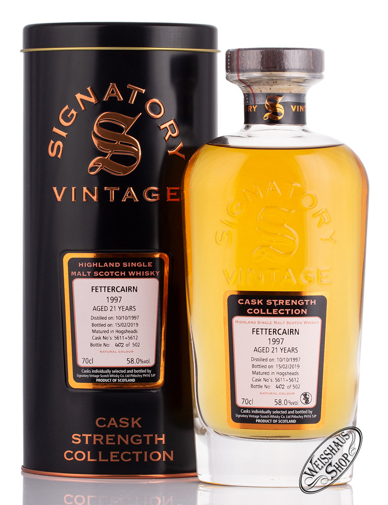 Fettercairn Vintage 1997 Signatory Whisky 58% vol. 0,70l