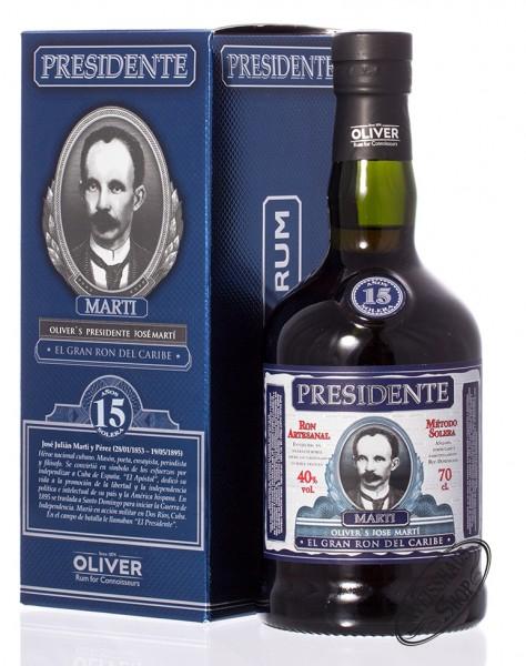 Presidente Marti 15 YO Rum 40% vol. 0,70l
