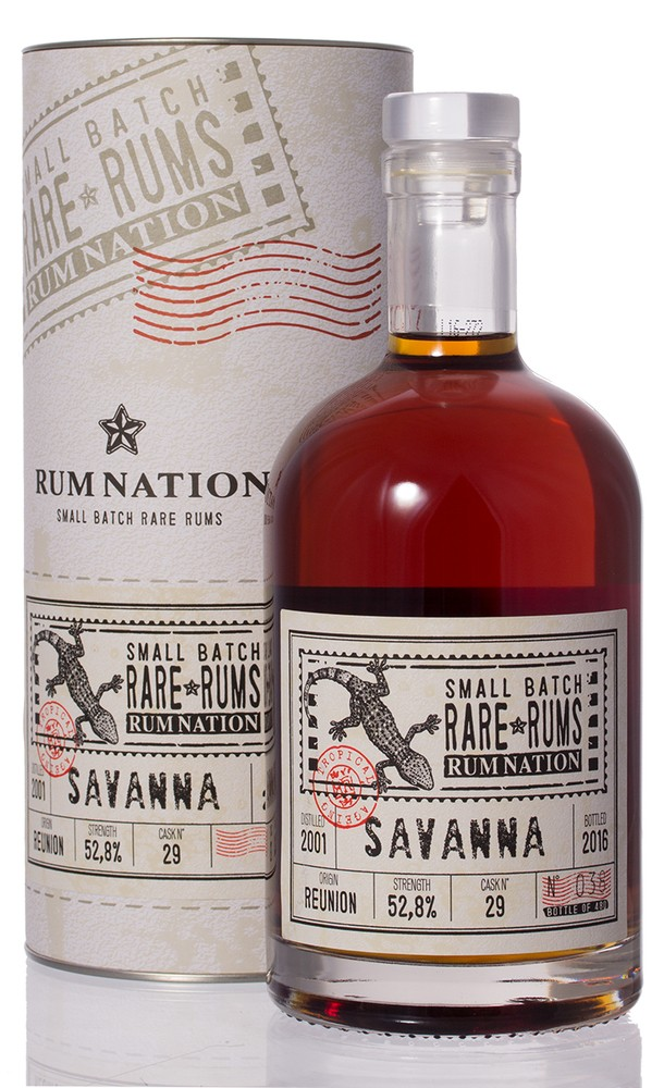Rum Nation Rare Rum Savanna 2001 52,8% vol. 0,70l