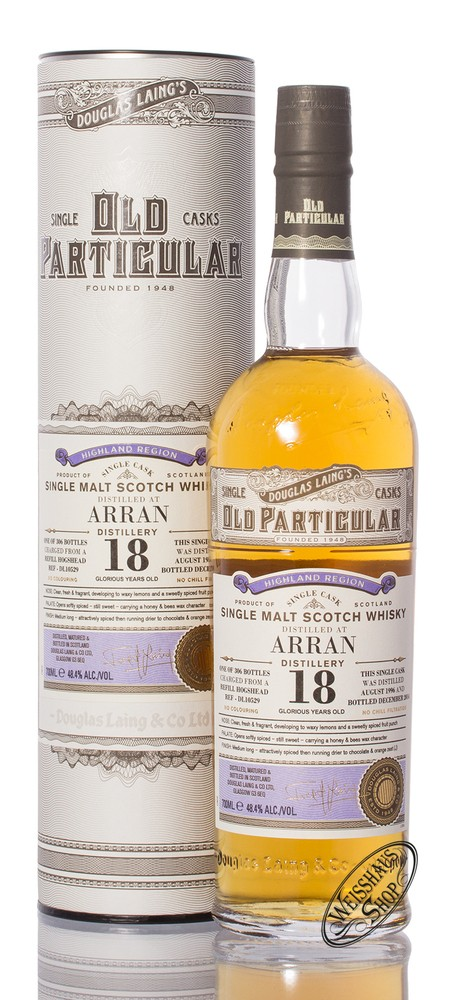 The Arran 18 YO Old Particular Islay Whisky 48,4% vol. 0,70l