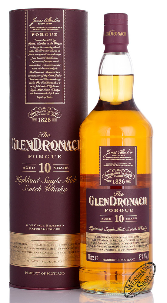 Glendronach 10 YO Forgue Whisky 43% vol. 1,0l