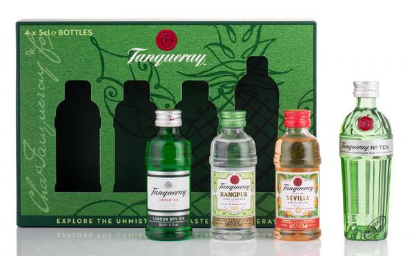 Tanqueray Gin Tasting-Box Geschenk-Set 43,25% vol. 4 x 0,05l