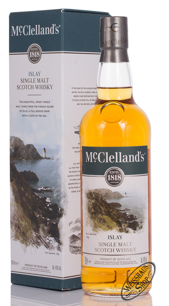 McClellands Islay Single Malt Whisky 40% vol. 0,70l
