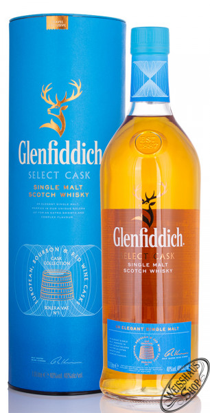 Glenfiddich Select Cask Whisky 40% vol 1,0l