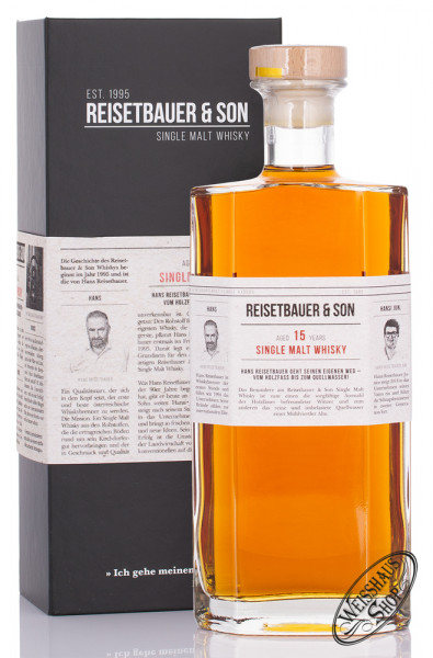 Reisetbauer & Son 15 YO Single Malt Whisky 48% vol. 0,70l