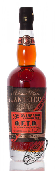 Plantation Overproof Rum Guyana, Jamaica & Barbados 69% vol. 0,70l
