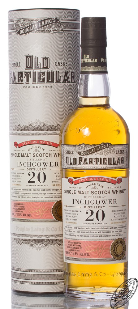 Inchgower 20 YO Old Particular 1995 Whisky 51,5% vol 0,70l