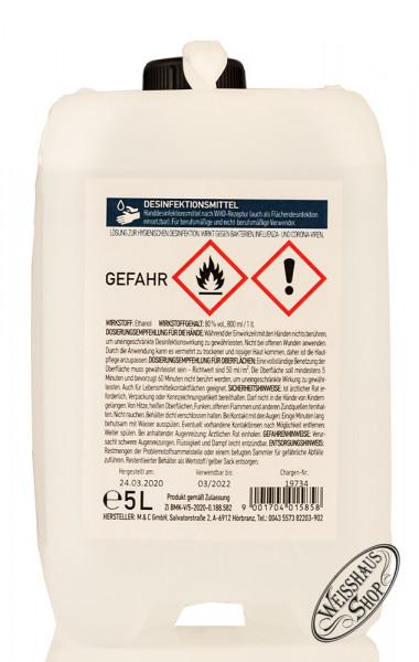 Desinfektionsmittel 80% vol. 5,0l Kanister