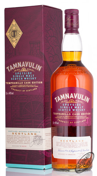 Tamnavulin Tempranillo Cask Single Malt Whisky 40% vol. 1,0l
