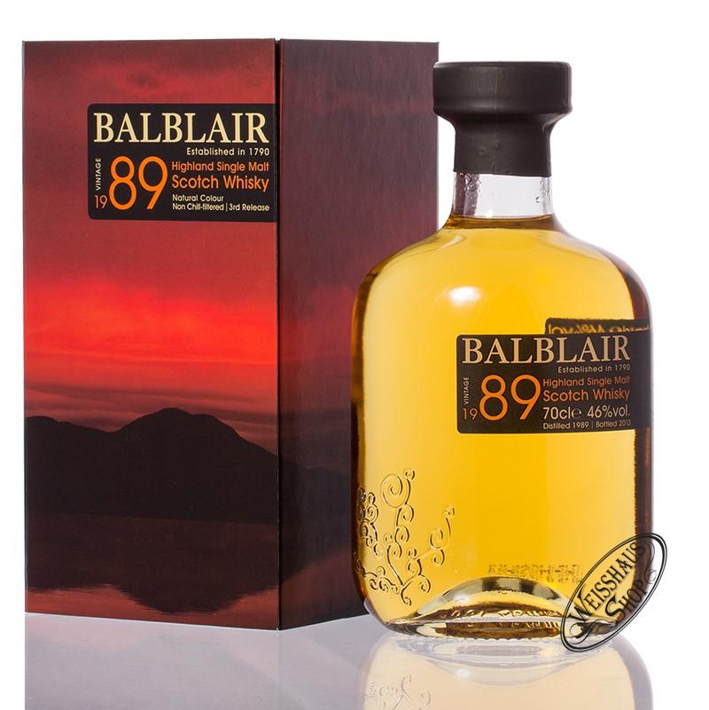 Balblair Vintage 1989 Highland Single Malt Whisky 46% vol. 0,70l
