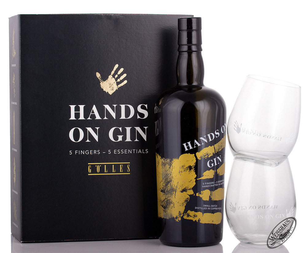 G�lles Hands on Gin Geschenk-Set 46,5% vol. 0,70l