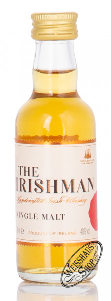 The Irishman Irish Single Malt Whiskey Miniatur 40% vol. 0,05l