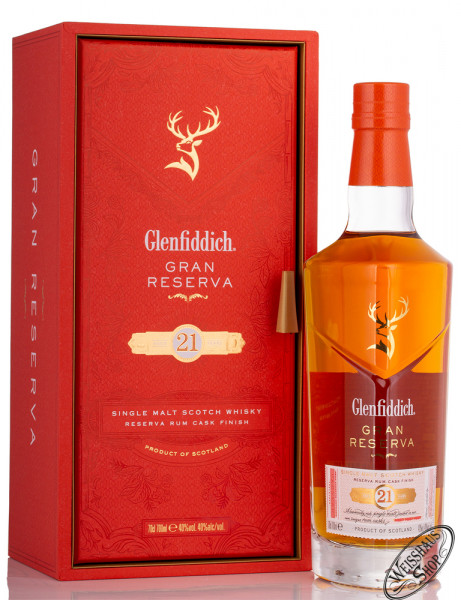 Glenfiddich 21 Years Old Single Malt Whisky 40% vol. 0,70l