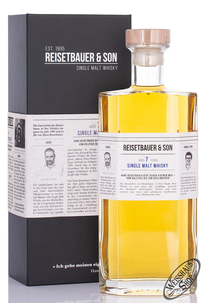 Reisetbauer & Son 7 YO Single Malt Whisky 43% vol. 0,70l