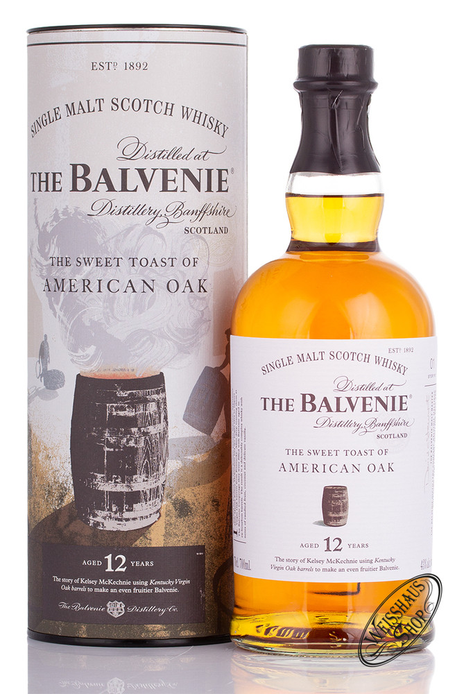 The Balvenie 12 YO American Oak Whisky 43% vol. 0,70l
