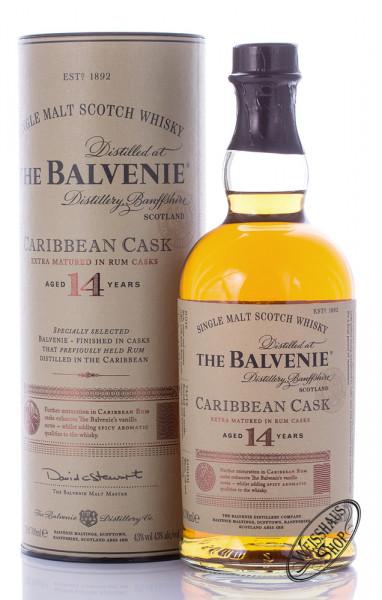 The Balvenie 14 YO Caribbean Cask Whisky 43% vol. 0,70l