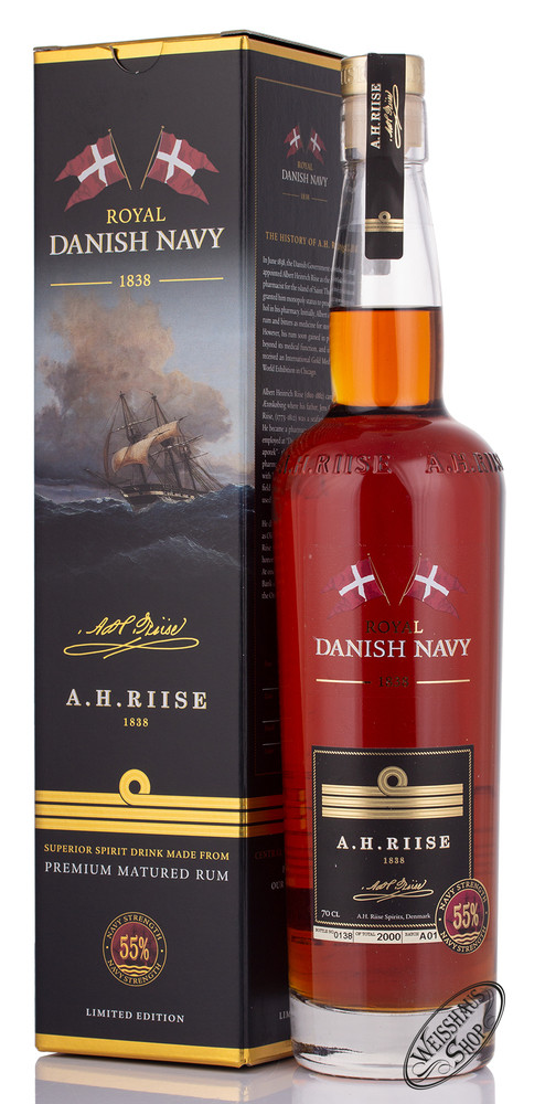 A.H. Riise Danish Navy Strength Rum 55% vol. 0,70l