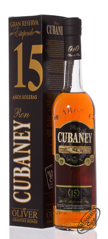Oliver und Oliver Cubaney Estupendo 15 YO Rum 38% vol. 0,70l