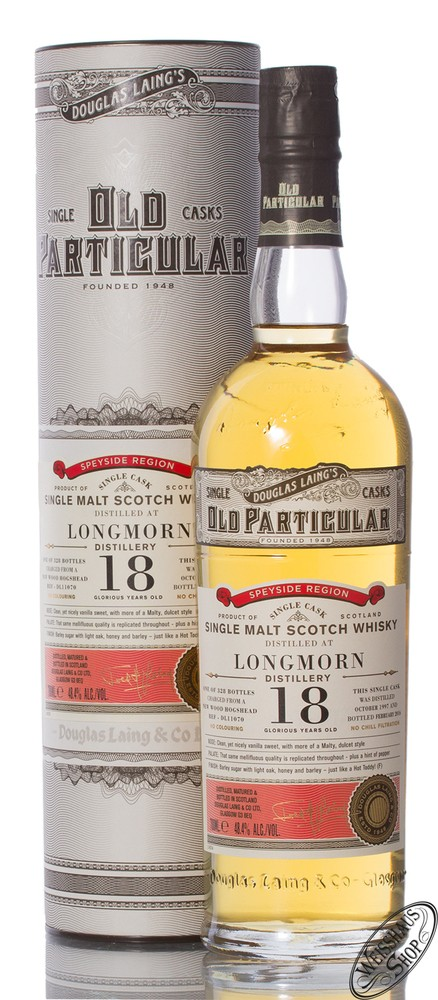 Longmorn 18 YO Old Particular 1997 Whisky 48,4% vol. 0,70l
