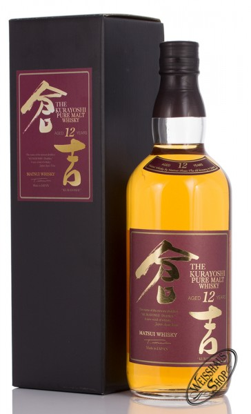 The Kurayoshi 12 YO Pure Malt Whisky 43% vol. 0,70l
