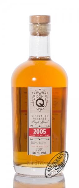 Don Q Single Barrel 2005 Limited Edition Rum 40% vol. 0,70l