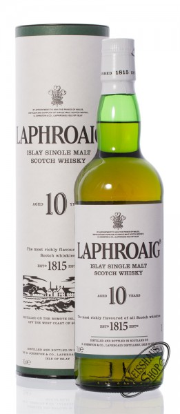 Laphroaig 10 Years Old Single Malt Whisky 40% vol. 0,70l
