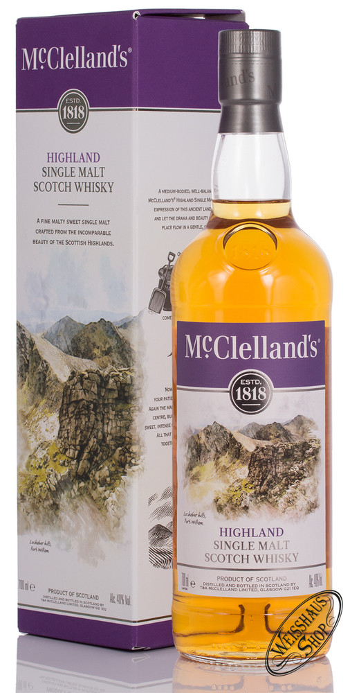 McClellands Highland Single Malt Whisky 40% vol. 0,70l