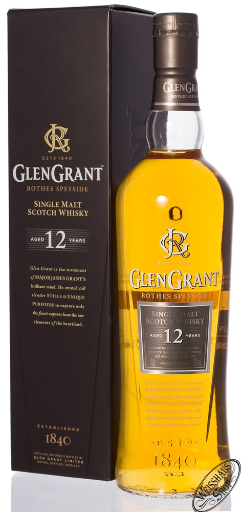 Glen Grant 12 YO Whisky 43% vol. 0,70l