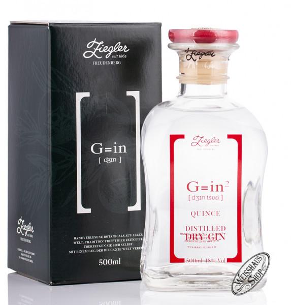 Ziegler G=in² Quitte Dry Gin 48% vol. 0,50l