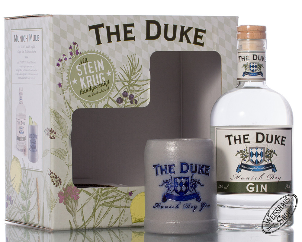 The Duke Munich Dry Gin Geschenk-Set 45% vol. 0,70l