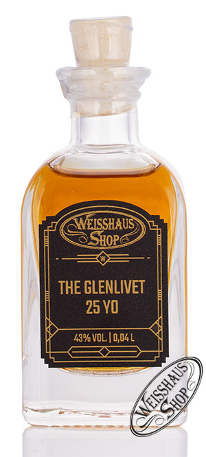 The Glenlivet 25 YO Single Malt Whisky 43% vol. 0,04l Weisshaus Sample