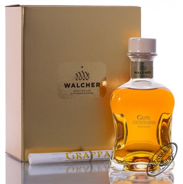 Walcher Grappa Gewürztraminer Riserva Imperiale 40% vol. 0,50l