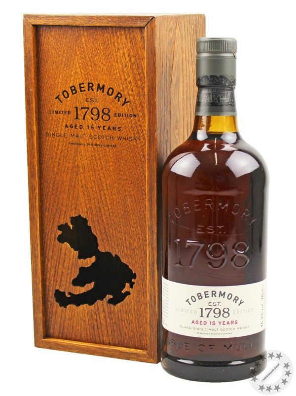 Tobermory 15 Years Old Whisky 46,3% vol. 0,70l