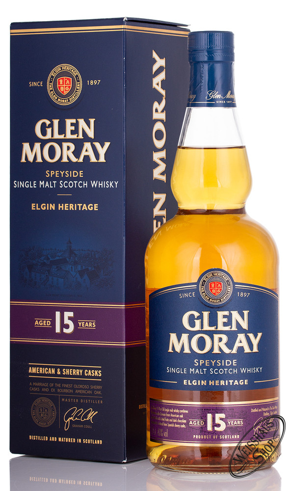 Glen Moray 15 YO Whisky 40% vol. 0,70l