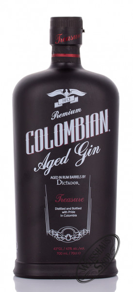 Dictador Colombian Aged Gin Black 43% vol. 0,70l