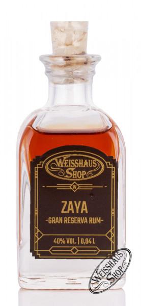 Zaya Gran Reserva Rum 40% vol. 0,04l Weisshaus Sample