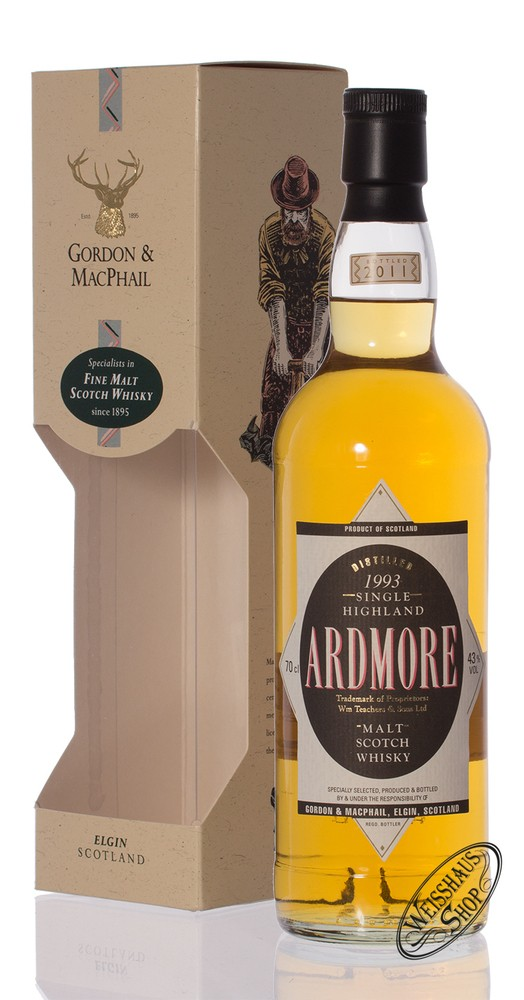 Ardmore Vintage 1993 Gordon & MacPhail Whisky 43% vol. 0,70l