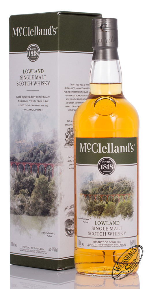 McClellands Lowland Single Malt Whisky 40% vol. 0,70l