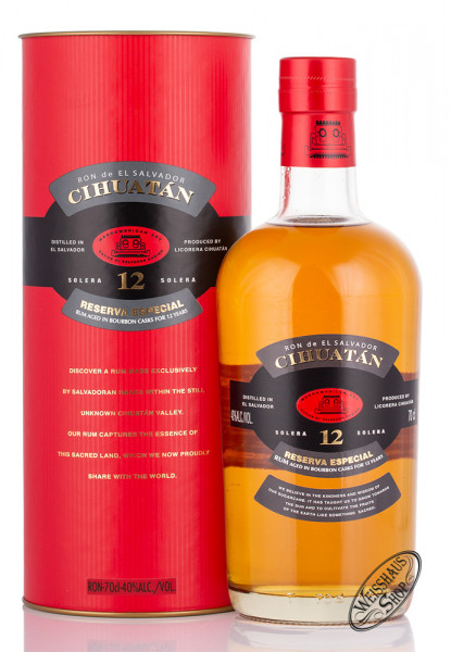 Ron Cihuatan Solera 12 YO Rum 40% vol. 0,70l
