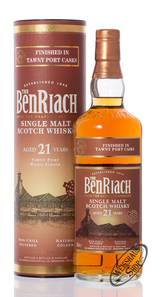 BenRiach 21 YO Tawny Port Whisky 46% vol. 0,70l