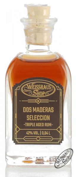 Dos Maderas Seleccion Rum 42% vol. 0,04l Weisshaus Sample